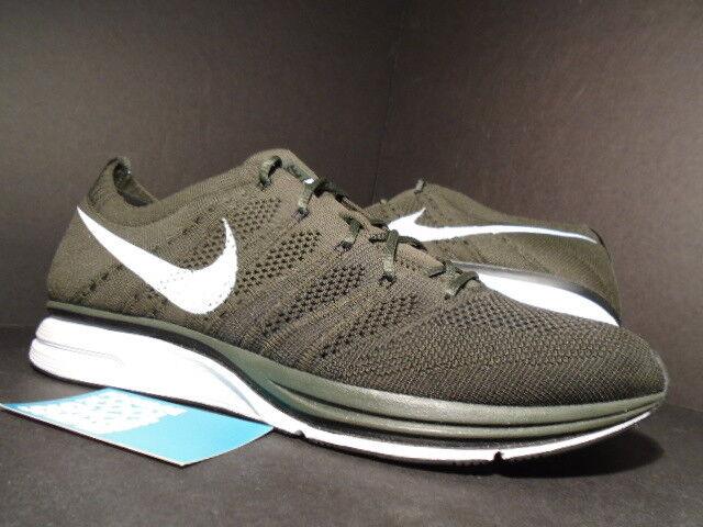 Nike Air flykint Trainer Racer blanco Sequoia   negro Sequoia blanco verde oliva 532984-030 11,5 el mas popular de zapatos para hombres y mujeres edc310