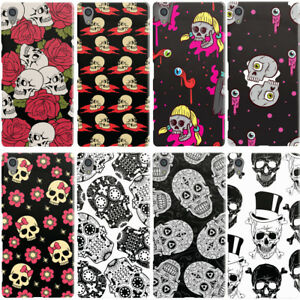 DYEFOR-SKULLS-PRINT-COLLECTION-PHONE-CASE-COVER-FOR-SONY-XPERIA