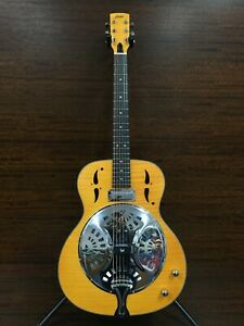 Haze Roundneck Resonator Guitar,Flame Maple,1xH Pickups+Free Gig Bag  SDG-727EQ 
