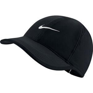 Women s Nike Featherlight Tennis Hat 679424 Black white 010 e7529b26d50