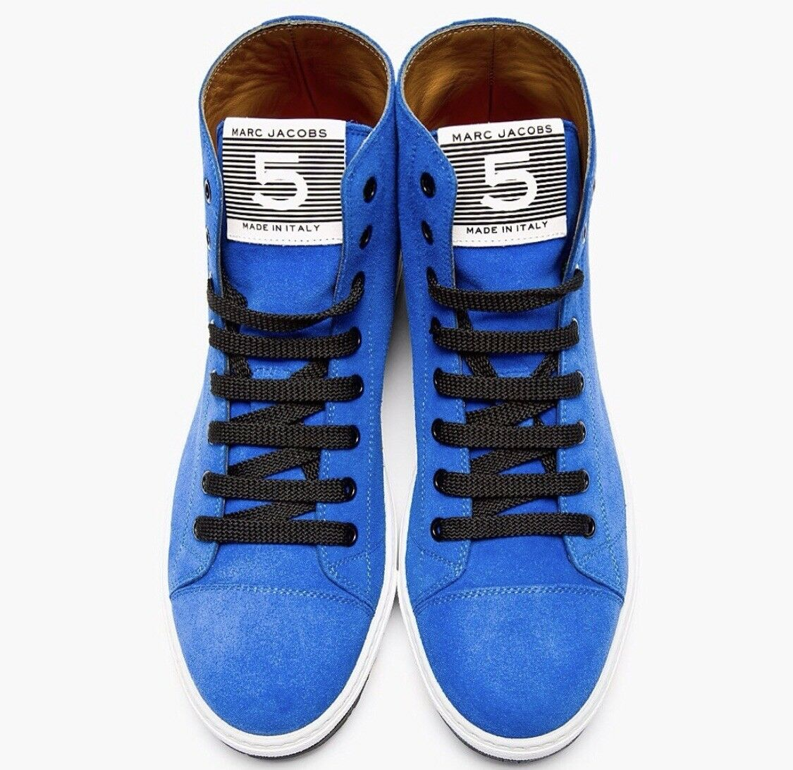 NEW! Men's Marc Jacobs Blue Suede High Top Sneakers - (Size: )