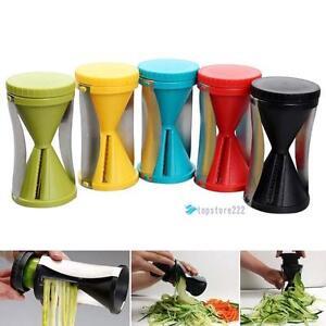 Spiral-Slicer-Cutter-Kitchen-Tool-Vegetable-Fruit-Spiralizer-Twister-Peeler-MOC