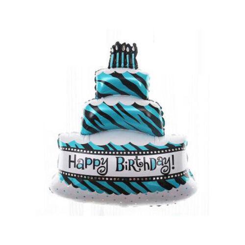 "18/"" BIRTHDAY CAKE FOIL BALLOON HELIUM BIRTHDAY WEDDING CUPCAKE 45cm UK SELLER"