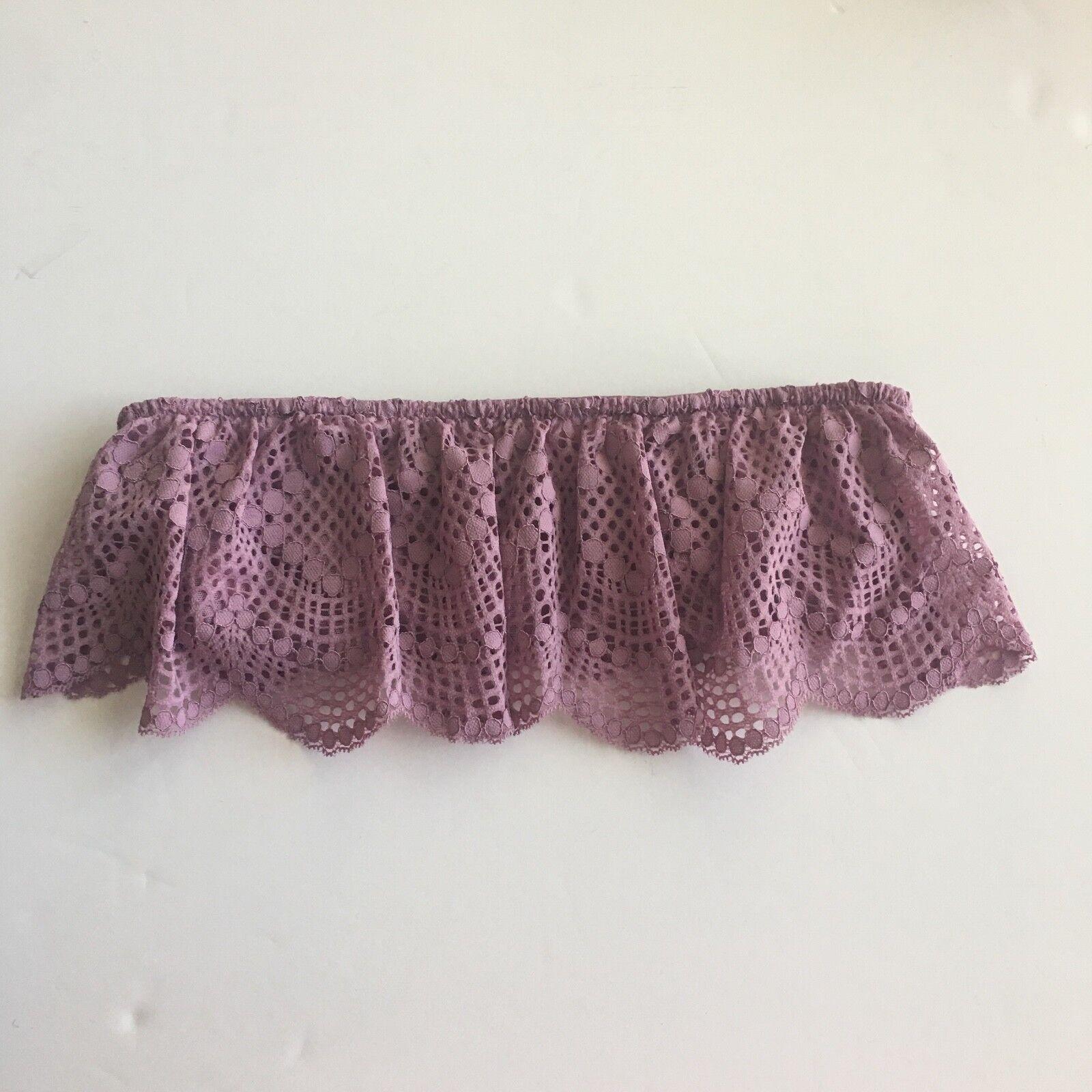 Victoria's Secret Women's Lace Crochet Bralette Purple Bra Size S