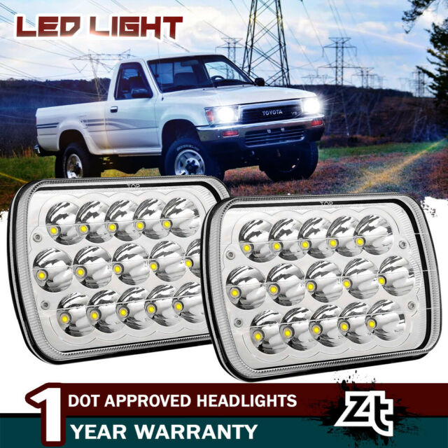Rectangle Shapet Sealed Beam 7X6 LED Headlights for Ford Toyota Pickup Truck GMC