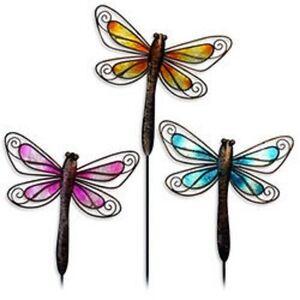 3 dragonfly garden decor yard outdoor lawn wall art deck for Dragonfly wall art