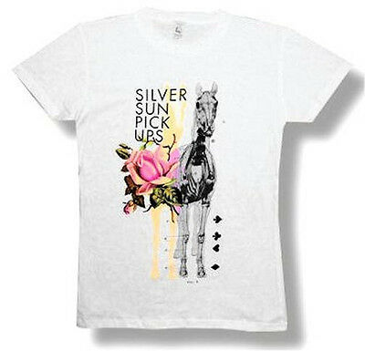 "SILVERSUN PICKUPS - ""ROSE HORSE"" BABYDOLL T-SHIRT - NEW JUNIORS GIRLS MEDIUM M"