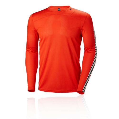 Helly Hansen Mens HH Lifa Crew Top Orange Sports Outdoors Warm