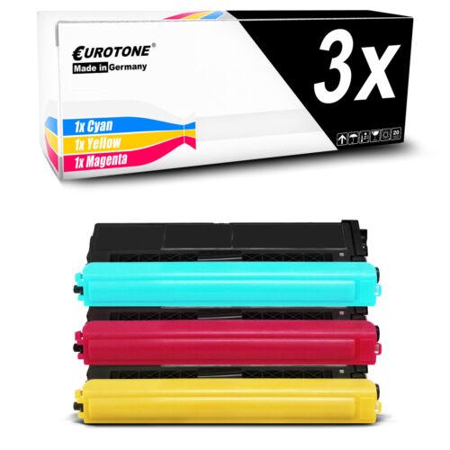 3x Eurotone Patrone kompatibel für Brother TN421C TN421M TN421Y TN421 TN-421