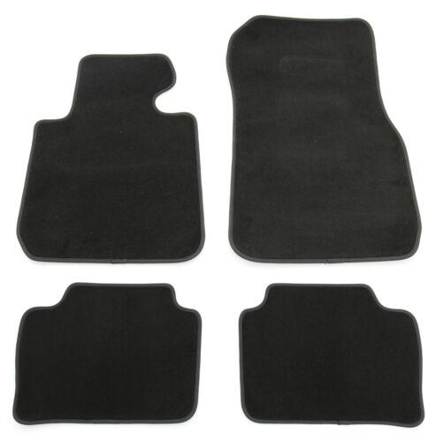 Fußmatten Set für 3er BMW F30 F31 M3 F80 Velours Qualität Autoteppiche Schwarz