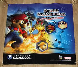 2001 Nintendo GameCube GC Super Smash Bros. Melee Promo Poster 40x40cm - Braunschweig, Deutschland - 2001 Nintendo GameCube GC Super Smash Bros. Melee Promo Poster 40x40cm - Braunschweig, Deutschland