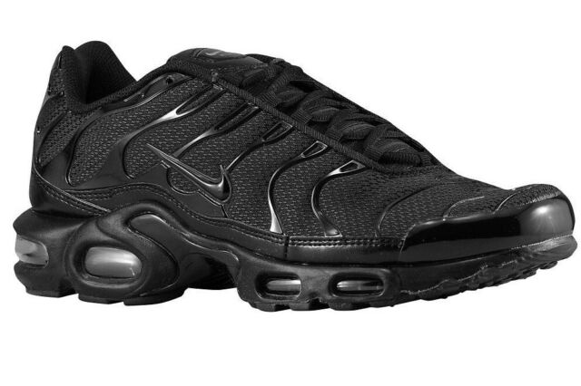 watch pre order on feet images of Nike Air Max Plus TN 1 Size 11 Triple Black 604133-050 Men Running Shoes