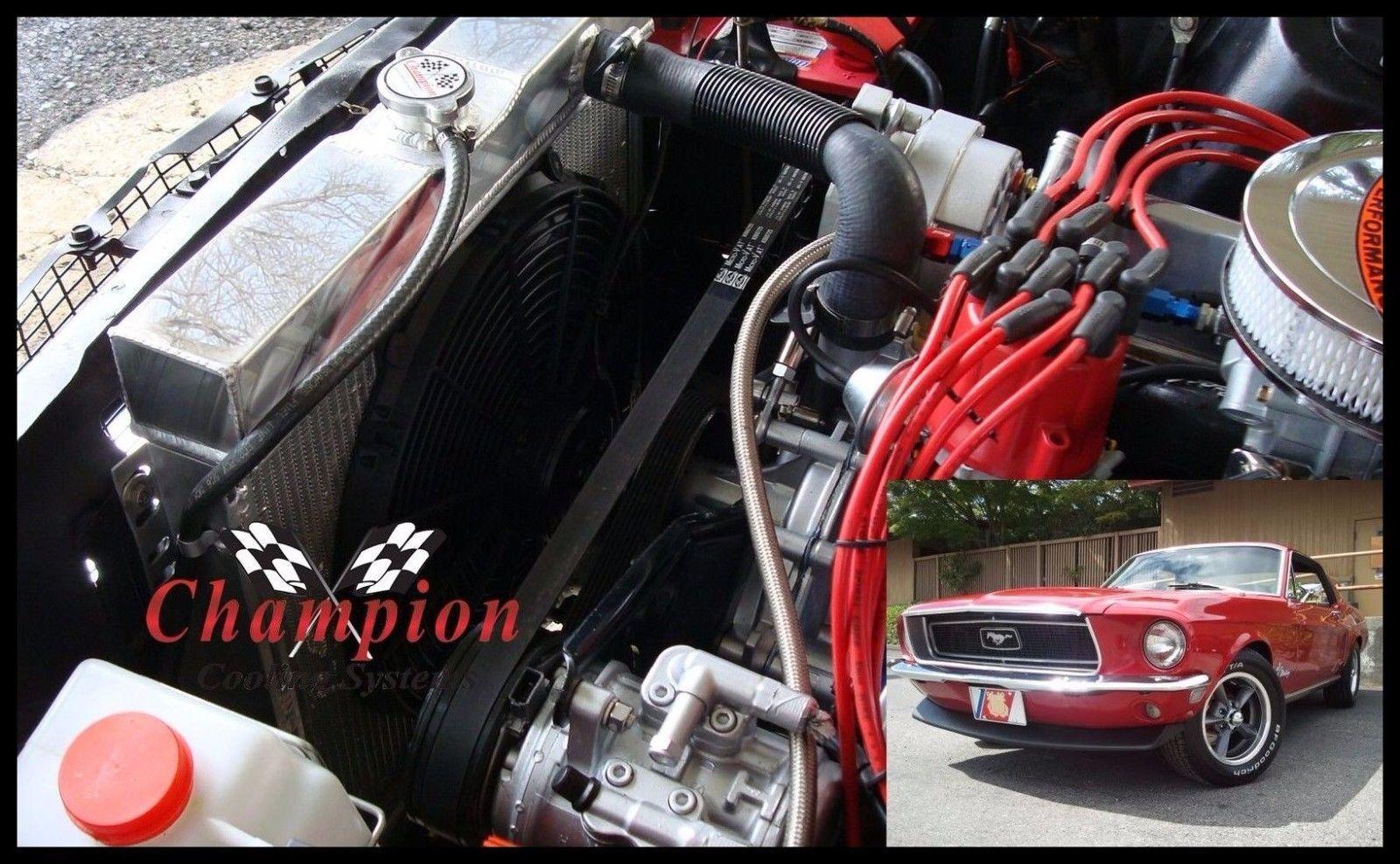 Mercury Cars Champion Racing 3 Row Aluminum Radiator CC340 For 1963-70 Ford