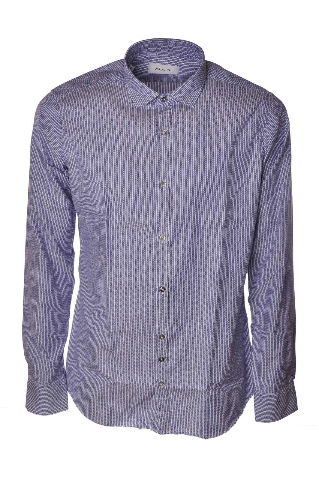Aglini - Shirts-Shirt - Man - Blau - 4066702C183910