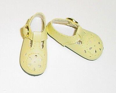 Doll Shoes 75mm CREAM Heart Cut