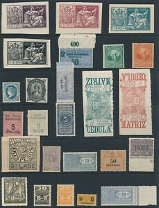 Lot-Stamp-Germany-Revenue-World-Germany-Spain-1898-and-After-Police-Stub-MNH-MNG