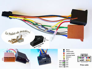 Cable-adaptateur-faisceau-ISO-16-pin-pour-autoradio-KENWOOD