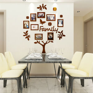 3D Family Tree Photo Pictures Collage Frame Wall Art Home Wedding Xmas   NEW