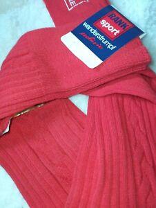 Bundhosenstrümpfe Gr.43-45 Trachtenstrümpfe 100/%  Baumwolle Rot  Wanderstrümpfe