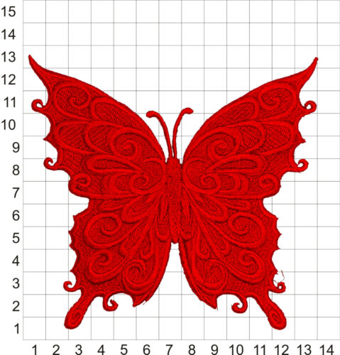 Embroidered Baroque Butterfly Motif//Patch//Badge//Applique-Lots of Colour Choices