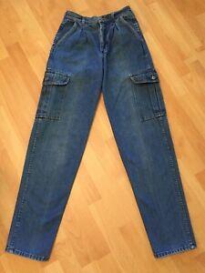 Vintage-039-80-039-s-COTLER-USA-Men-039-s-Blue-Jeans-Measured-28x33-Cargo-Pockets-Tag-30-XL