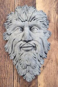 Large Green Man Wall Plaque Stone Garden Ornament  Pagan Wiccan - <span itemprop=availableAtOrFrom>Country Garden Ornaments  Wrexham, United Kingdom</span> - Large Green Man Wall Plaque Stone Garden Ornament  Pagan Wiccan - Country Garden Ornaments  Wrexham, United Kingdom