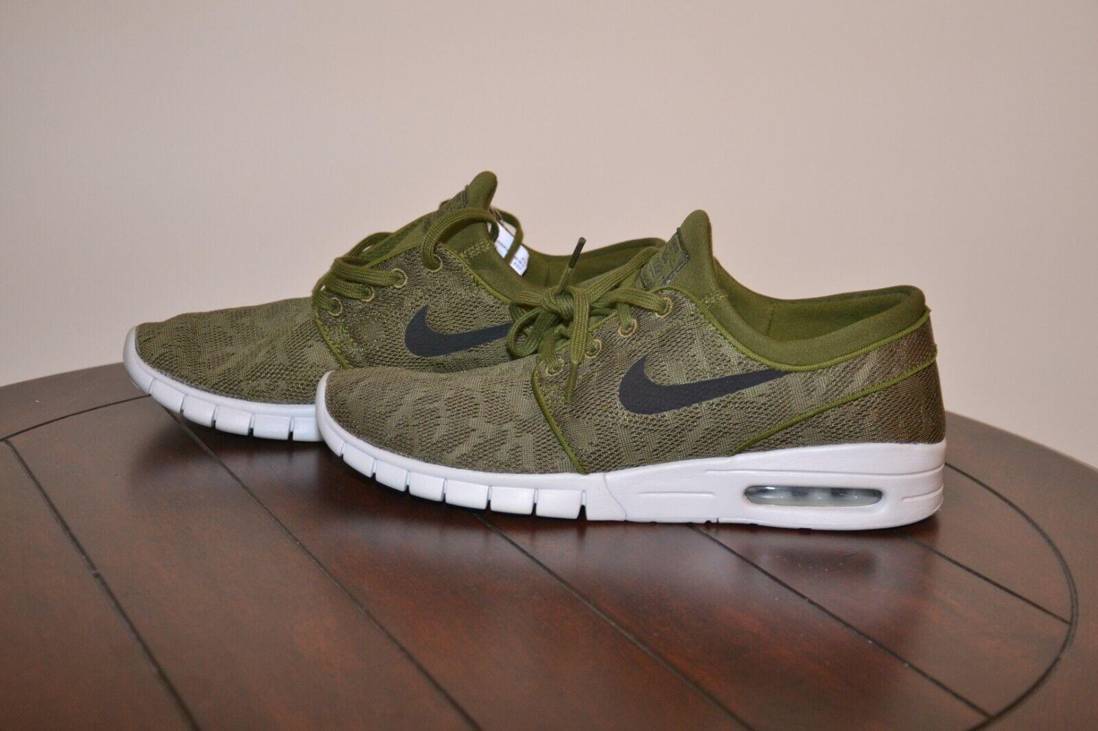 best website 3d0d8 67f21 Nike SB Stefan Janoski Max Legion Green Black 631303 631303 631303 300 Size  10 a10a86