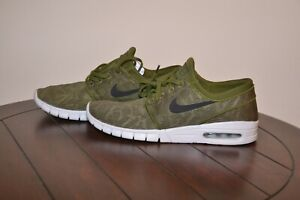 super popular 6293f 3433b Image is loading Nike-SB-Stefan-Janoski-Max-Legion-Green-Black-
