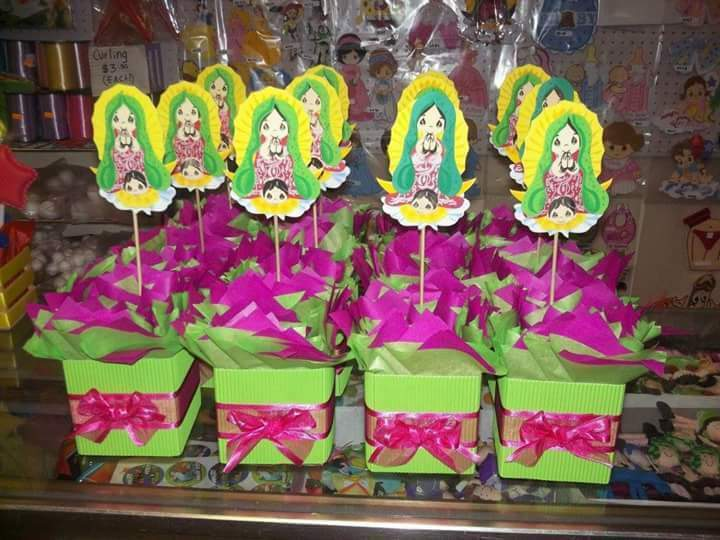 Party decorations kids  12 centros de mesa virgencita pliss