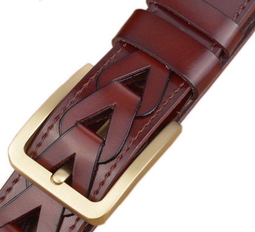 Belt Men New Arrived Fashion Designed Split Leather Male Hand-made Waist Strap | Verrückter Preis