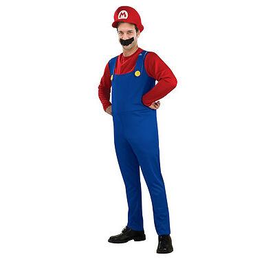Halloween Men's Women's Kids Mario Luigi Bros Fancy Dress Costume Outfit