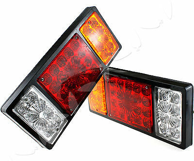 2 x Truck Trailer 12v 36 LED Stop Rear Tail Indicator Reverse Lamp Light Set