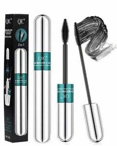 4D Silk Fiber Lash Mascara, 2 in 1 Mascara Lengthening Thicking Lash QIC  USA