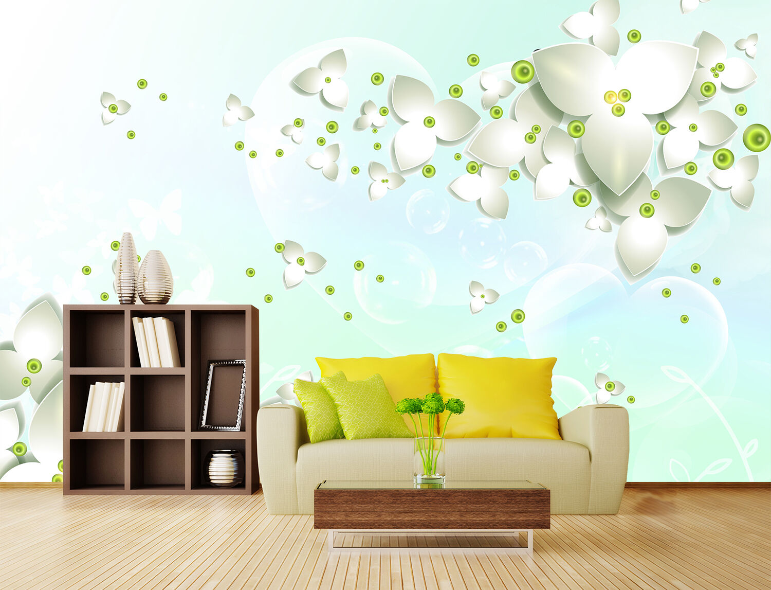 3D Bubble Pattern Flowers 20 Paper Wall Print Wall Decal Wall Deco Indoor Murals