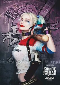 A3 /& A4 Harley Quinn Option 1 Suicide Squad Film Posters