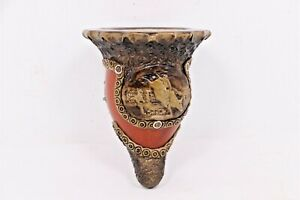 VINTAGE-Carved-WOODEN-GOBLET-cornucopia-chalice-cup-BEAUTIFULLY-DECORATED
