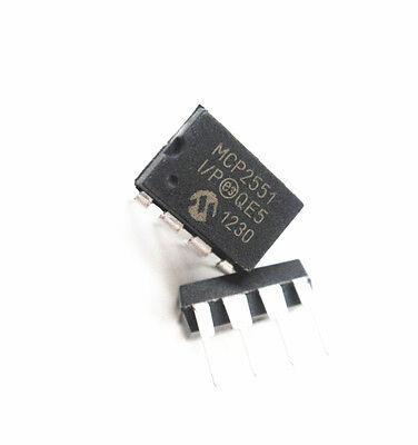 2PCS MCP2551 MCP2551-I//SN TRANSCEIVER CAN HI-SPD 8-SOIC IC