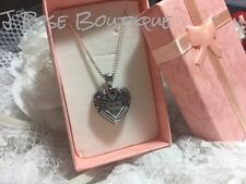 RUBY HEART I MISS YOU WING STAINLESS Cremation URN W/FUNNEL Necklace Ash JEWELRY