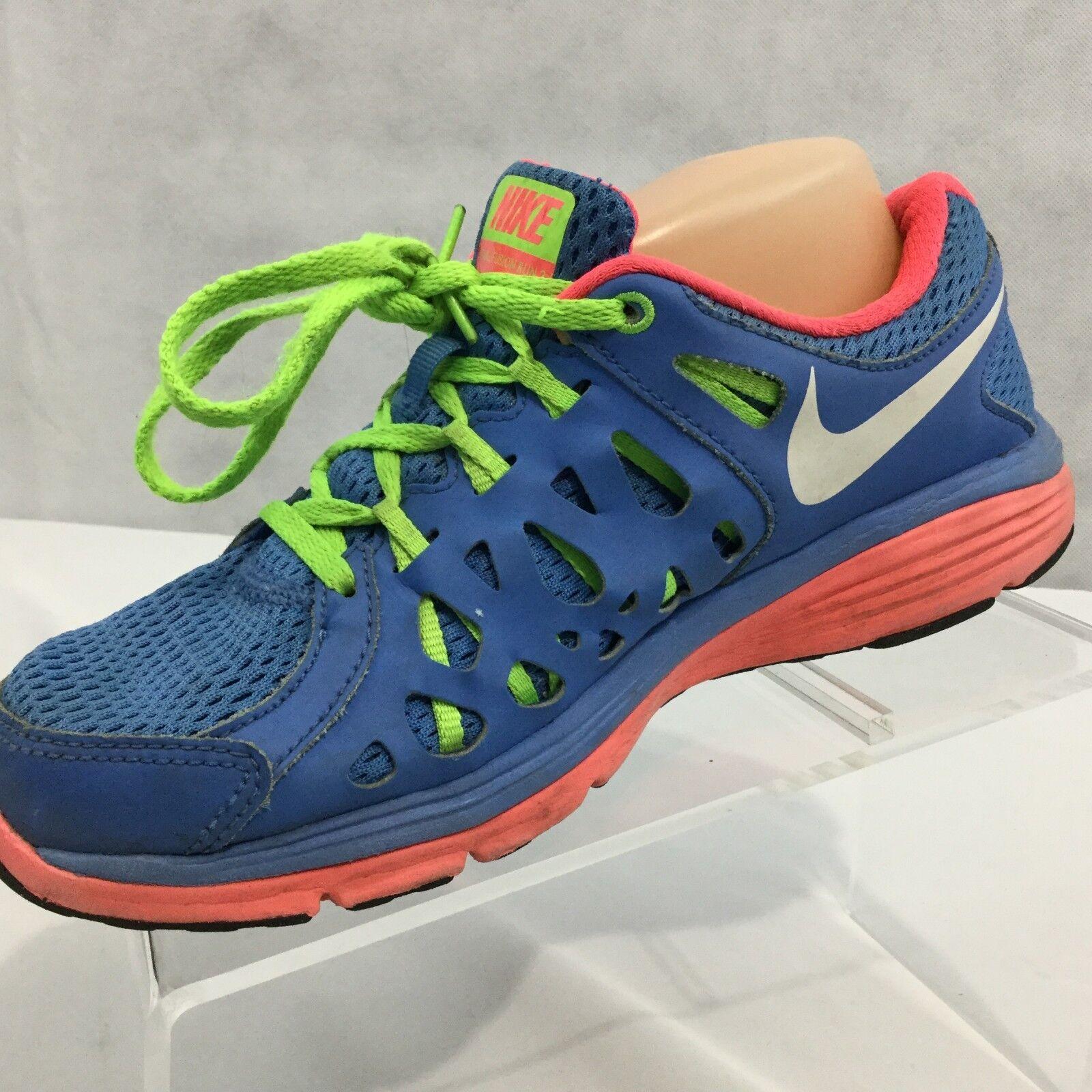 Nike doppia fusione run 2 sz 8 blu verde scarpa da corsa atletica leggera allenamento rosa | scarseggia  | Maschio/Ragazze Scarpa