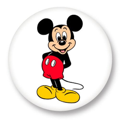 Porte Cle Clef Ø45mm Mickey Mouse Walt Disney Dessin Animé