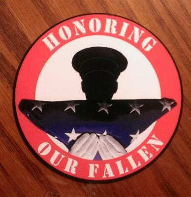 Honoring Our Fallen Decal Military Army Navy USAF USMC USCG