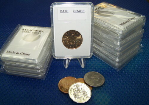 Coin holders Slab Style for Cdn  Loon $ and Nickel 50 cents - 26.5 mm *10 pcs*