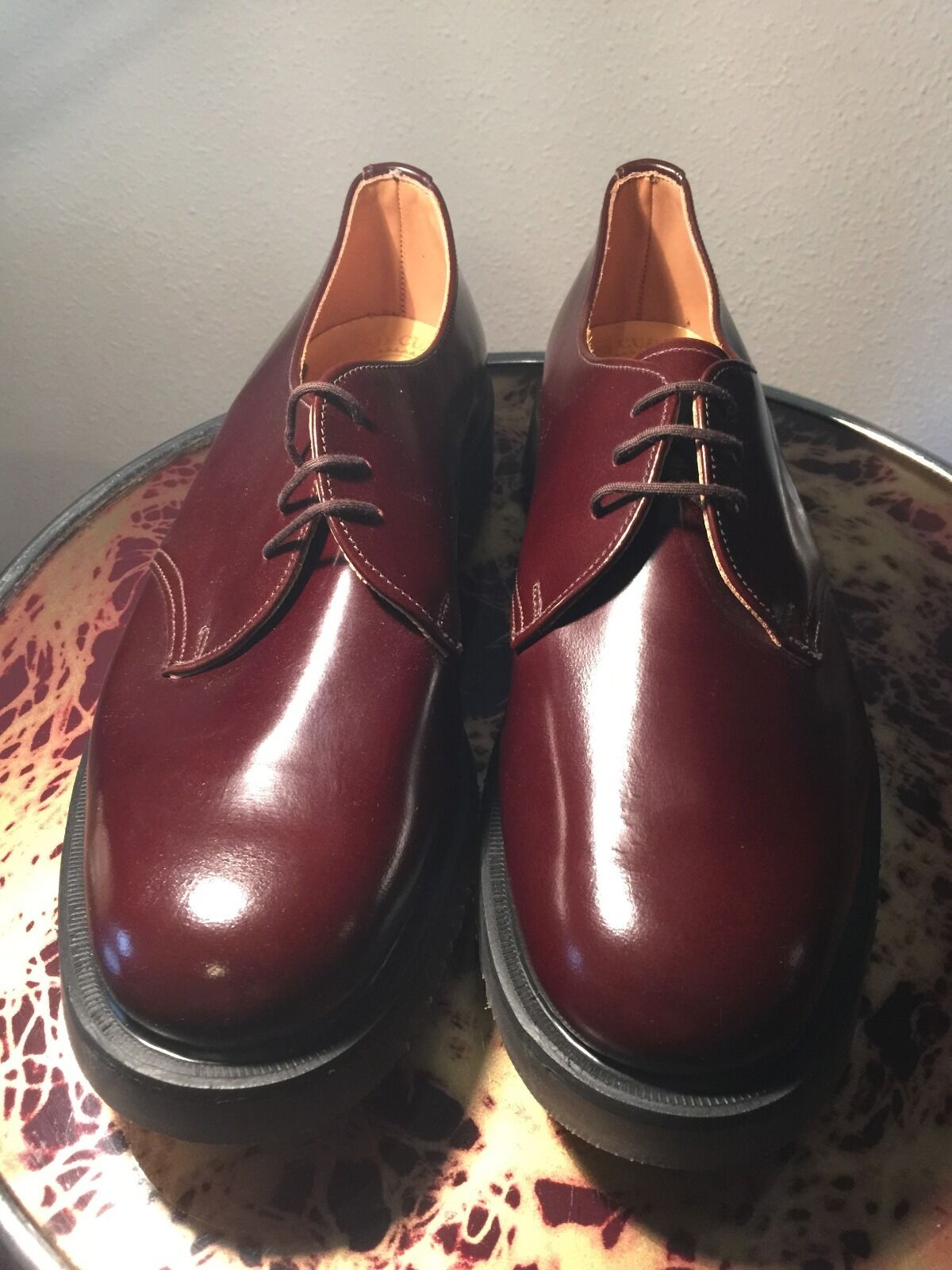 Classic English oxblood gobson all leather upper air cushion sole sz 7 NOS