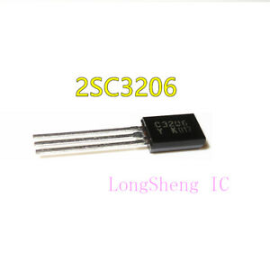 10PCS-2SC3206-TO-92-NPN-TRANSISTOR-EPITAXIAL-TYPE-PCT-PROCESS-new