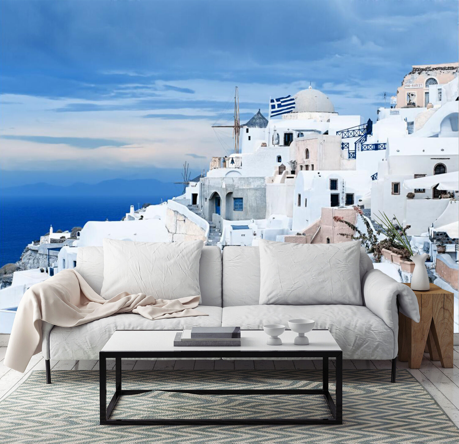 3D Greece Santorini Island 9 Paper Wall Print Wall Decal Wall Deco Indoor Murals