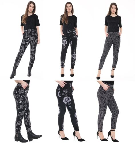 New with tag Ladies Girls Women/'s Pocket Printed Trouser Legging