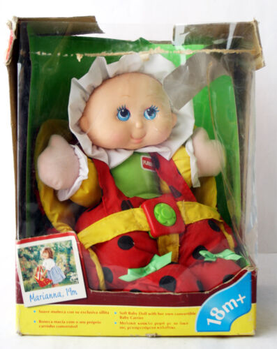 VERY RARE VINTAGE 1995 LIL LADY PLUSH BABY DOLL + CARRIER PLAYSKOOL NEW !