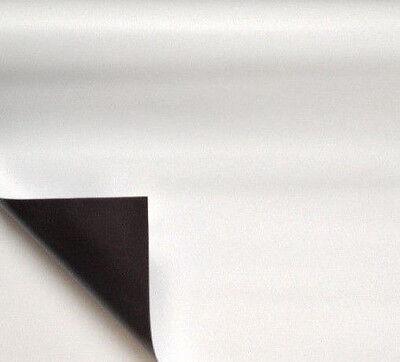 0,7mm x 1000mm weiß matt Meterware Magnetband Magnetfolie Magnetfolie