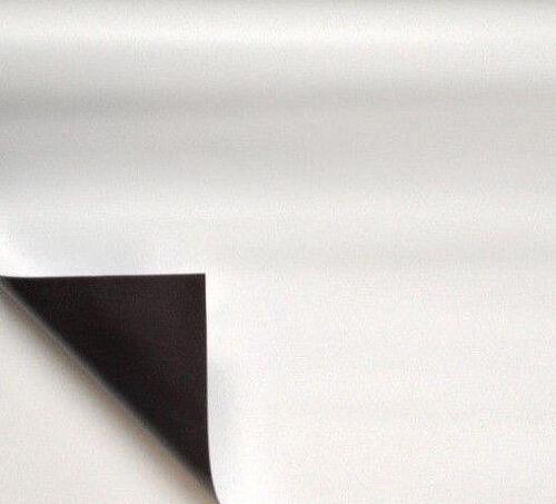 0,7mm x 1000mm Meterware Magnetband Magnetfolie Magnetfolie weiß matt