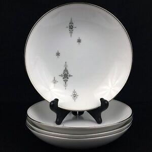 Set-of-4-VTG-Soup-Bowls-7-1-4-034-by-Noritake-China-STELLA-Starbursts-6602-Japan